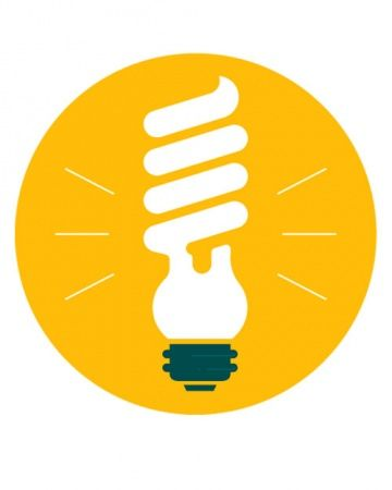 Incandescent bulbs put more energy into generating heat than light, so replace high-use bulbs with compact fluorescent lightbulbs (CFLs). They burn cool & bright with only a third of the power required by incandescents. But be aware!! CFLs contain mercury - handle with extreme care, dispose of carefully at tech disposal sites, & do not break!