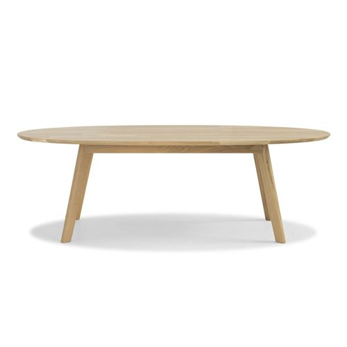 Table basse ovale en ch ne massif naturel retrus table basse salon pinter - Tables basses ovales ...