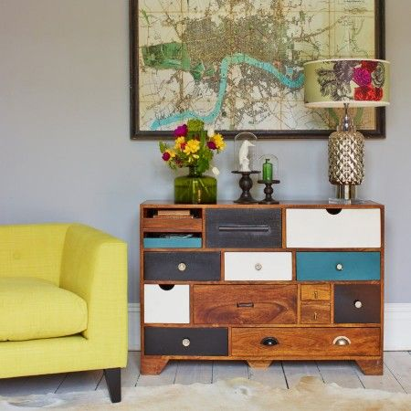 Love this eclectic chest to keep a few bits and pieces in