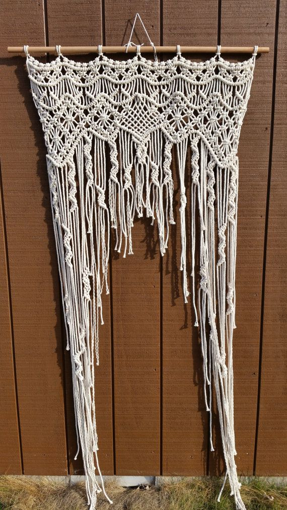 Macrame door curtain / wedding backdrop https://www.etsy.com/listing/222710602/sale-macrame-curtain-macrame-wedding