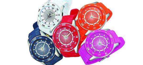 """A Lorus lança a gama de relógios mais alegre e """"saborosa"""" de sempre, a coleção Gelato. Estes relógios analógicos com tampa e caixa em aço e bracelete em caucho, super confortável são o companheiro ideal para as aventuras de verão."""