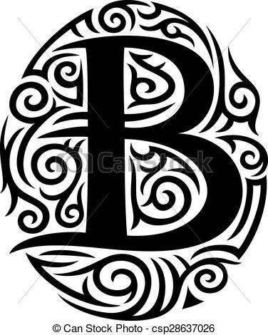 Illustrazioni vettoriali di tatuaggio, tribale, B, disegno ...