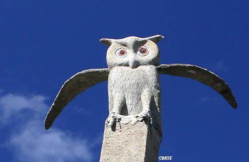 Owl - Helen Martins, Nieu Bethesda, The Owl House. (23 December 1897 - 8 August 1976) en.wikipedia.org/...