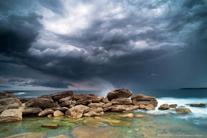 A storm over Clovelly