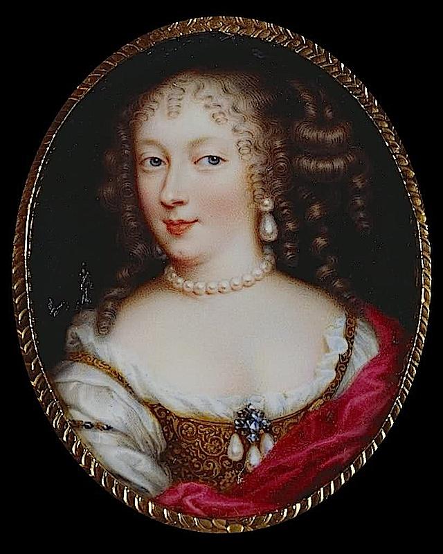 Prinzessin Liselotte von der Pfalz, spätere Herzogin von Orleans. Tochter von  Kurfürst Karl I. Ludwig von der Pfalz und Prinzessin Charlotte von Hessen-Kassel.