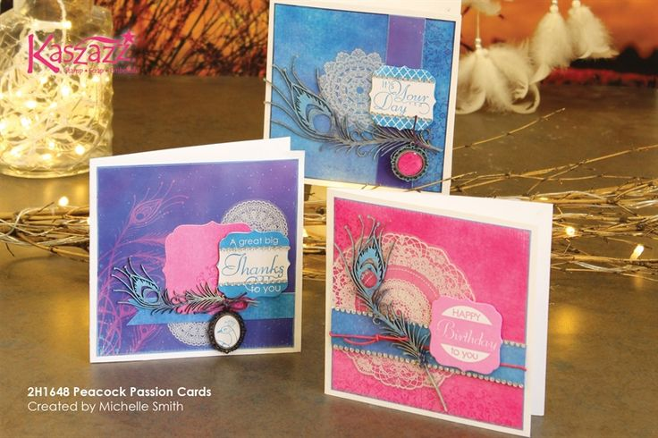 2H1648 Peacock Passion Cards