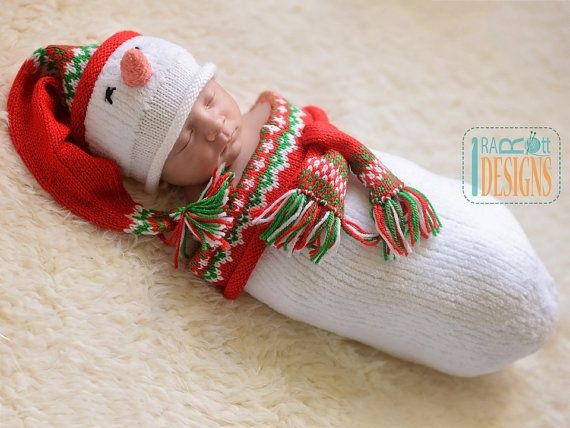 SIZE: Newborn (13-14 head circumference) COLOR: White with Red & Green accents.