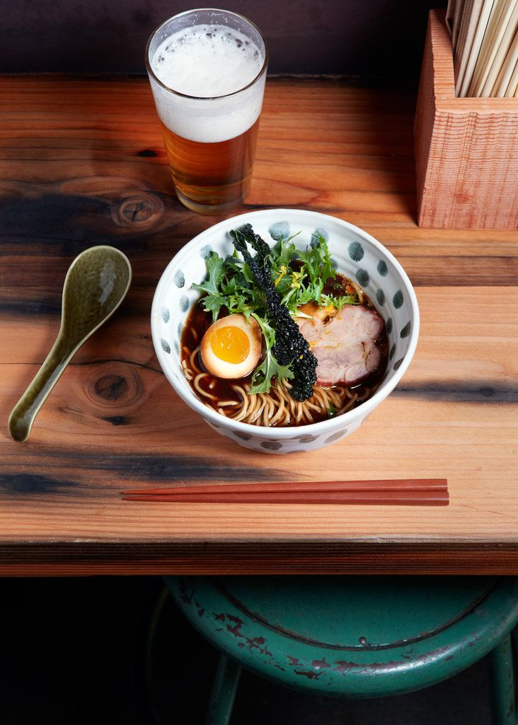 "RAMEN LOVE: ""Ramen is very regional, and practically every city in Japan has its own style that reflects people's taste and what is available,"" says Jaksich, who trained under a ramen ""master"" while living in Japan for six years and now hand pulls the noodles for Ramen Shop's service daily."