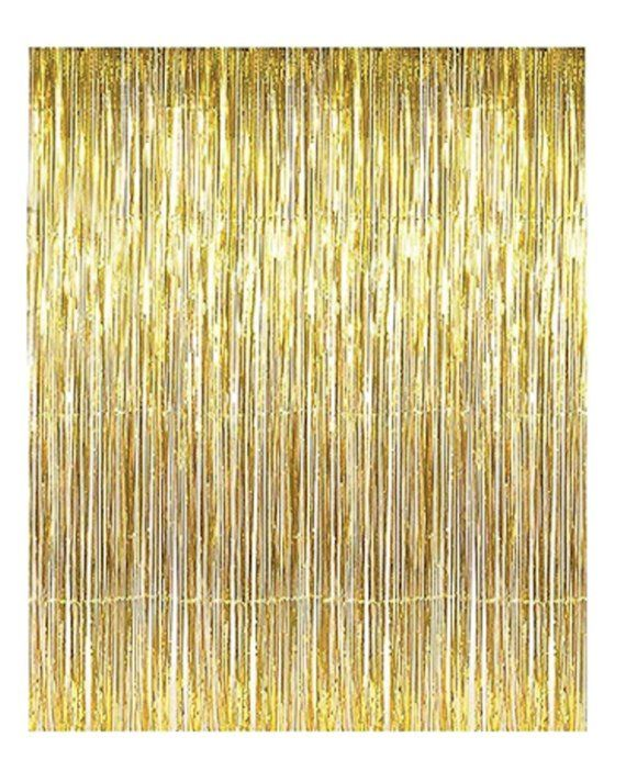 Gold Fringe Curtain Metallic Tinsel Foil Fringe Curtains Birthday
