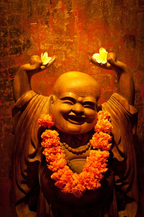 Laughing Buddha or statue is thought of as being lucky, especially if you rub the Buddha's belly. #HOFLuckyCharms