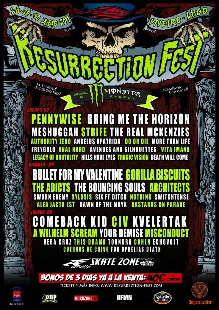 Resurrection Fest 2011, Spain