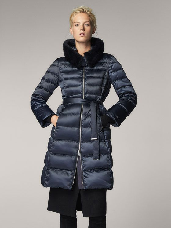 Spring Summer 2017 Women´s DOWN JACKET WITH FUR DETAIL at Massimo Dutti for 2499. Effortless elegance!