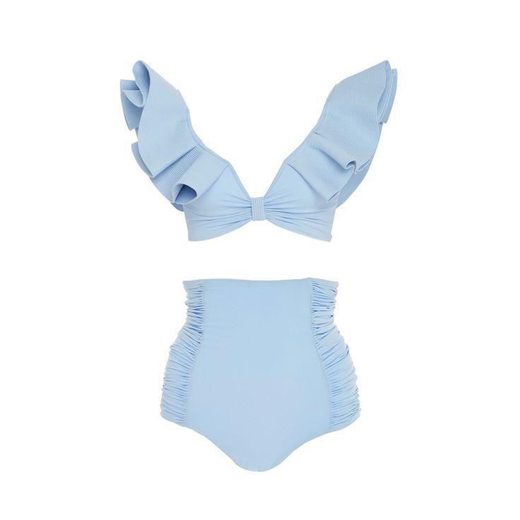 Moon Light Printed Bikini Top, Johanna Ortiz $335 Shelly High Rise Bikini Bottom, Johanna Ortiz $150