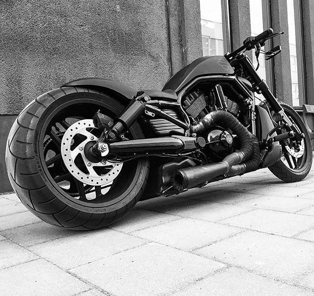 Repost from @chrizzbiker ♠️️Blaaackie♠️ #hd #luxury #design #sthlm #follow #rider #blacklist #badass #motorcycle #custom #bike #warrior #lifestyle #bikerpor #ass #harleydavidson #vrod #nrs #instadaily #freedom #sexy #thing #bikerlife #mean #loveit #harley_davidson #freedom #sthlm