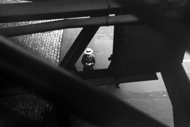 Saul Leiter, From the El, c. 1955.