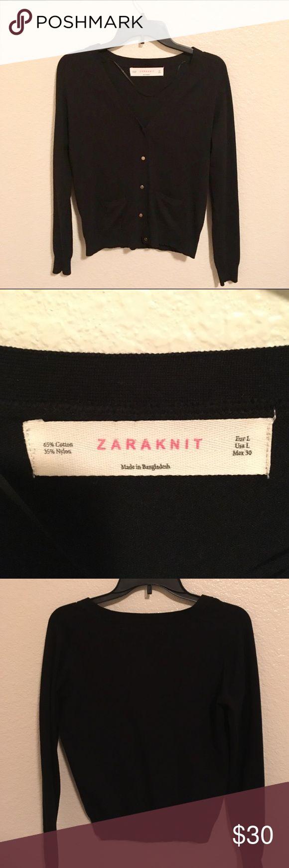 NWOT ZARA knit cardigan NWOT. Black knit ZARA cardigan! Perfect condition. Smoke free and pet free home Zara Tops