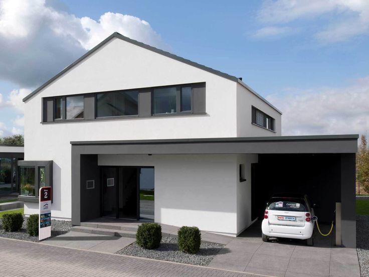 Einfamilienhaus mit doppelgarage satteldach  Die besten 25+ Dachneigung Ideen auf Pinterest | Dachstuhl Design ...