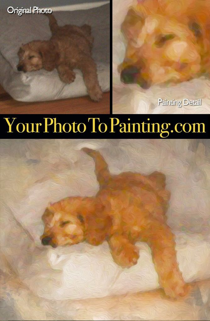 Even a lower resolution cell phone shot can be converted into a nice digital painting on canvas. www.yourphototopainting.com