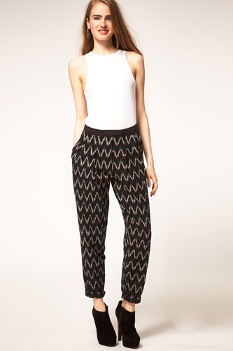 Aztec trousers.