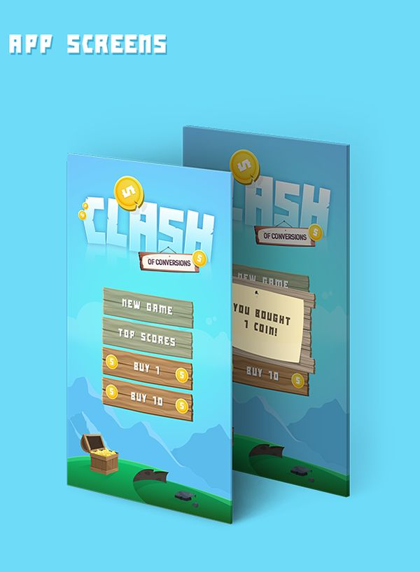 Clash of Conversions App on Behance