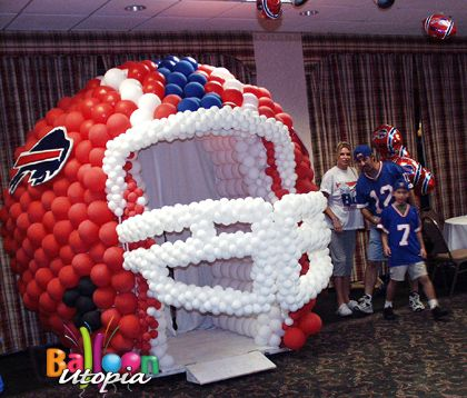 football balloon decor