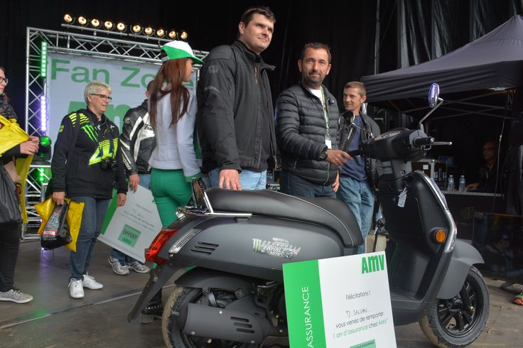 Grand gagnant de notre KYMCO LIKE 50, offert sur la FAN ZONE du GRAND PRIX MOTO DE FRANCE au Circuit BUGATTI LE MANS