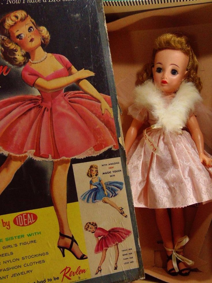 "REVLON DOLL W BOX CLOTHES JEWELRY GIRL FASHION VTG 1950 20"" NYLONS HEELS HOME AS #Unbranded…"