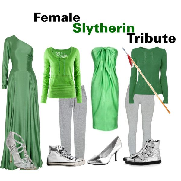 The Hunger Games/Harry Potter Cross Over : Female Slytherin Tribute, created by nearlysamantha on Polyvore
