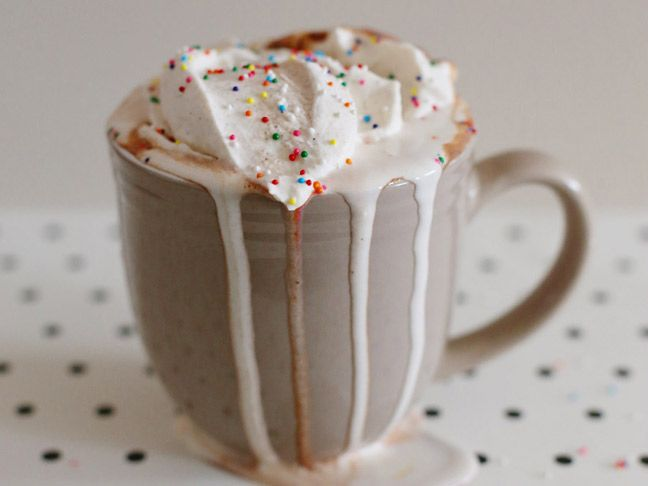 Nutella Hot Chocolate with Cinnamon Whipped Cream Recipe