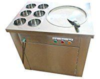 Yoli® fry ice pan machine fried ice cream machine ice cream roll making machine for sale,one pan with six buckets