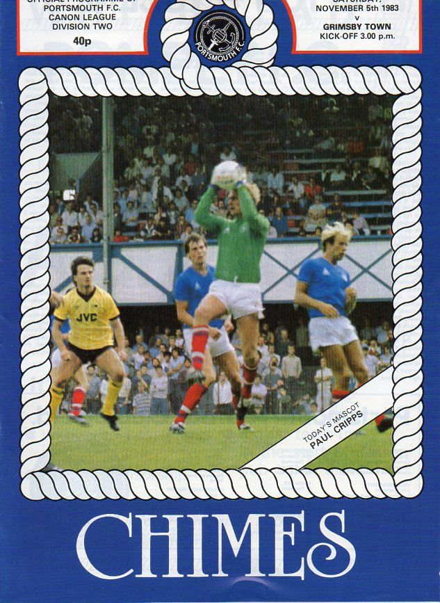 Portsmouth 4 Grimsby Town 0 in Nov 1983 at Fratton Park. The programme cover #Div2