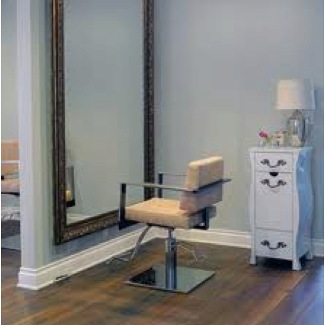 In home hair salon Love the giant mirror