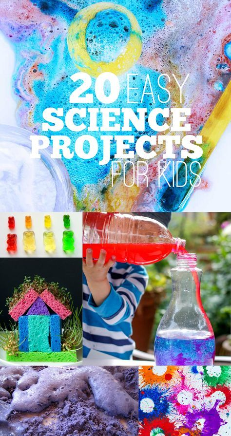 20 Easy Science Projects for Kids! Hands on experiments to try at home with 3 - 12 year olds! www.acraftyliving.com