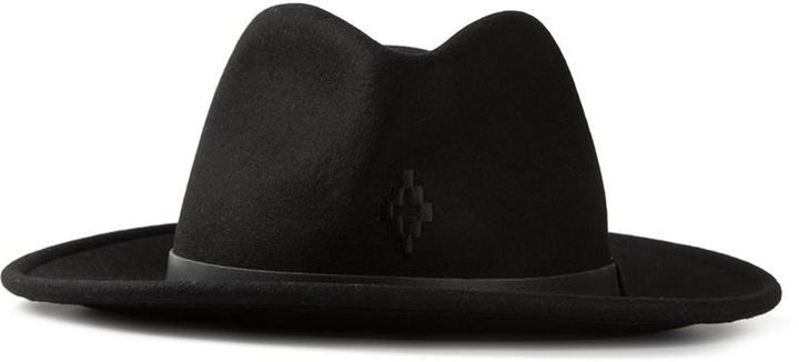 Marcelo Burlon County Of Milan logo embroidered fedora hat
