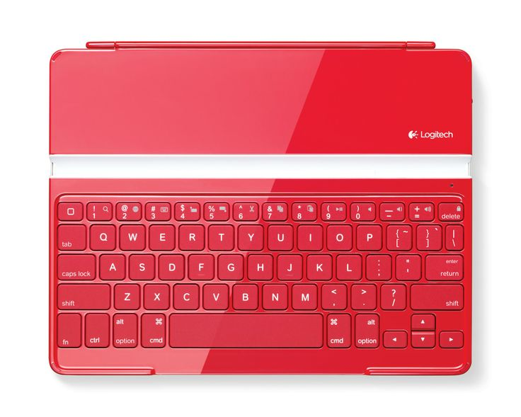Logitech Ultrathin keyboard cover in Red. Red is the color of blood, and as such has strong symbolism as life and vitality. It brings focus to the essence of life and living with emphasis on survival. #red #colourmeaning #colourpsychology #keyboard #logitech #sprout #sproutinc #freedomtogrow