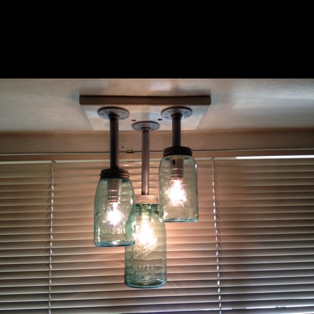 mason jar track lighting. mason jar light fixture made by my hubby track lighting