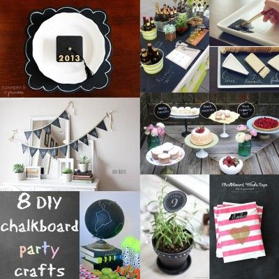Chalkboard Party Crafts