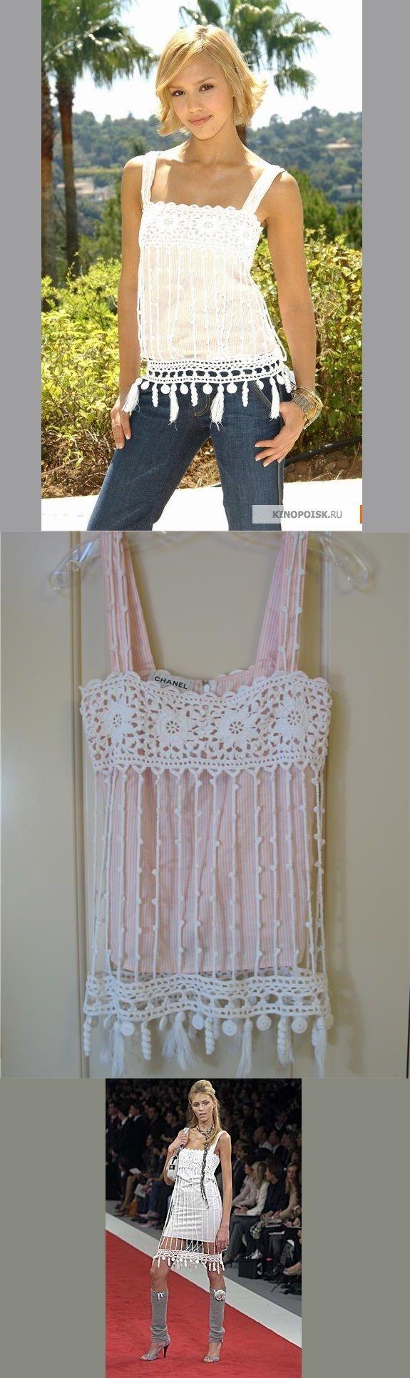 Top de Crochet Chanel - Inspiração.