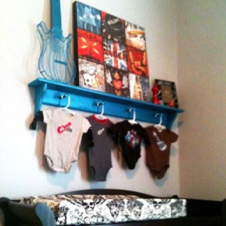 Brady's Changing Table Wall