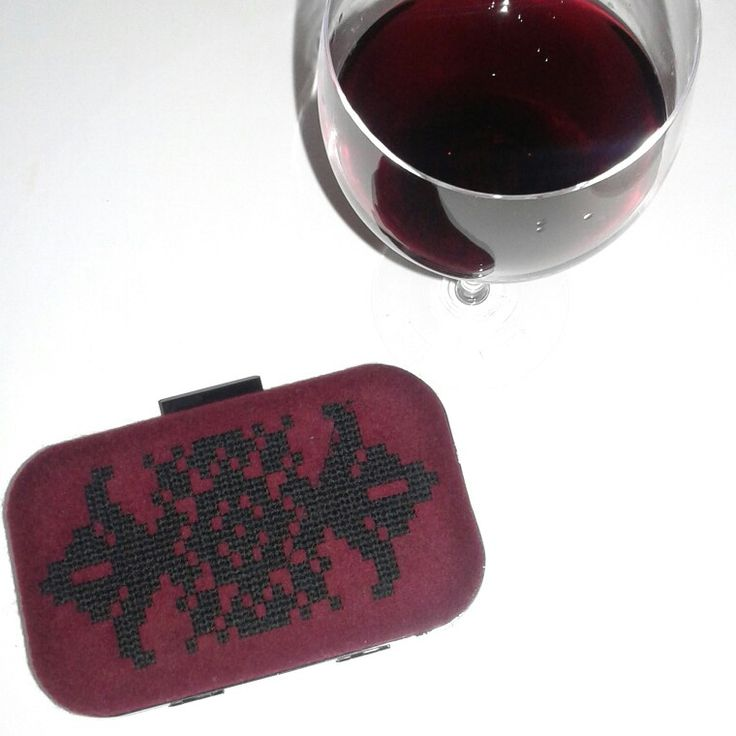 Wine red is the colour of 2015 Embroidered clutch @itsallgreekonme