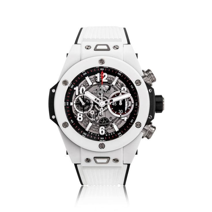 Model  Hublot Big Bang Ceramic White Mens Watch 411.HX.1170.RX  Functions Swiss made, 45mm, automatic movement, scratch resistant sapphire crystal glass, water resistant to 100 meters.  This Hublot Big Bang timepiece exudes a unique appearance, featuring an all black leather strap and black skeleton dial and detailing lined with orange   Features  Hublot Big Bang Ceramic White Mens Watch 411.HX.1170.RX is designed to give a glimpse into the complex layers that make-up this stunning…