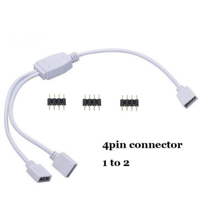 4pin Splitter Cable 1 To 2 3 4 Way Y Rgb Splitter Connector For 5050 3528 Rgb Led Strip Lights With 4pin Need Led Strip Lighting Rgb Led Strip Lights Led Strip