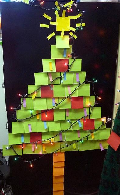 Post It Note Christmas Tree Christmas Christmas Post