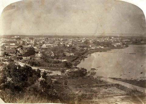 City of Perth viewed from Mount Eliza, c1862.