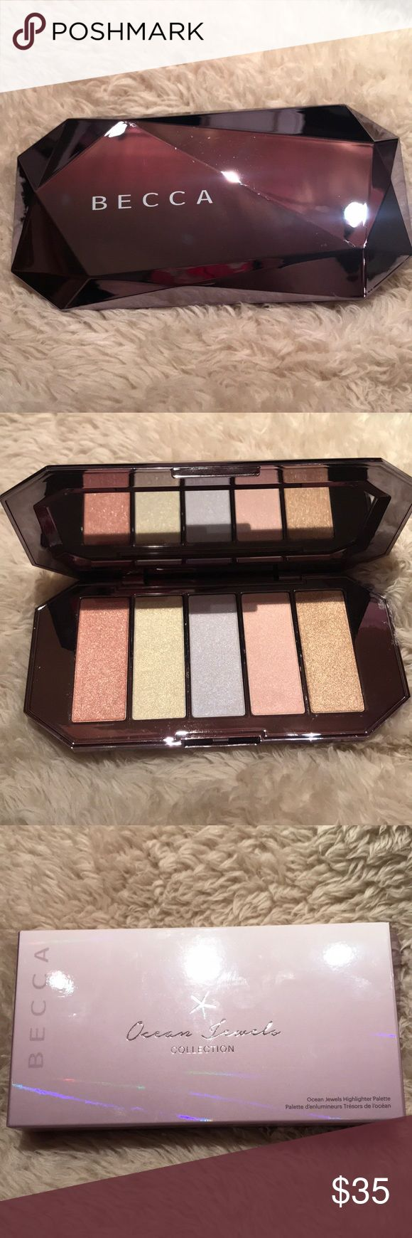 BECCA Ocean Jewels Highlighter Palette A limited-edition, highlighting palette, featuring five brand new shades of BECCA's iconic Shimmering Skin Perfector Pressed Highlighter formula.. BECCA Makeup Luminizer