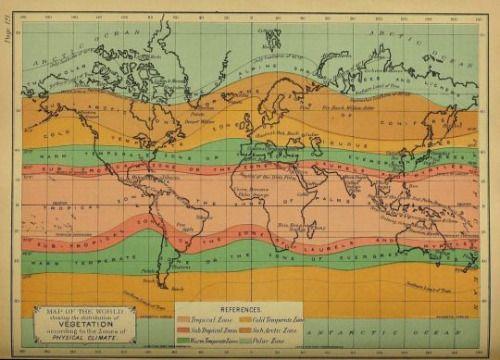 - Vegetation zones of the world - 1895