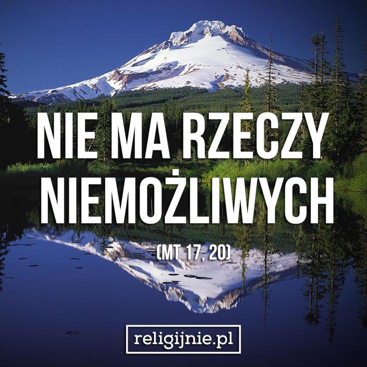 """""""Jeśli będziecie mieć wiarę jak ziarnko gorczycy, powiecie tej górze: Przesuń się stąd tam!, a przesunie się. I nic niemożliwego nie będzie dla was. (Mt 17, 20)"""