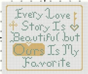 Stitch a Love Story this chart was placed on Face Book and is courtesy of Feathers in the Nest
