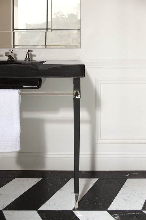 Pinstripe Faucet Kathryn Console Table Brass Table Legs. Art Deco ...