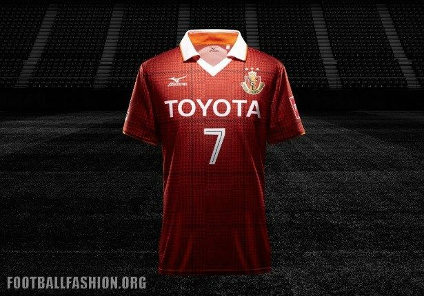 Nagoya Grampus 2017 Mizuno Home and Away Kits
